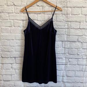 3/$30🦋 DYNAMITE Purple Velvet Slip Dress